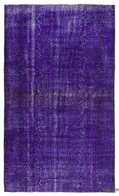 "Purple Over-dyed Turkish Vintage Rug - 5' 11"" x 9' 11"" (71 in. x 119 in.)"