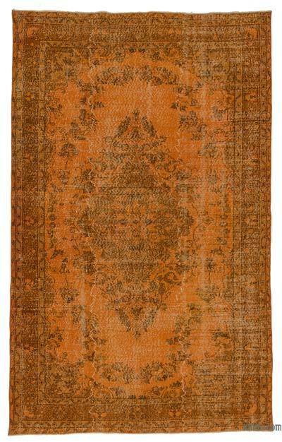 Boyalı El Dokuma Vintage Halı - 178 cm x 290 cm