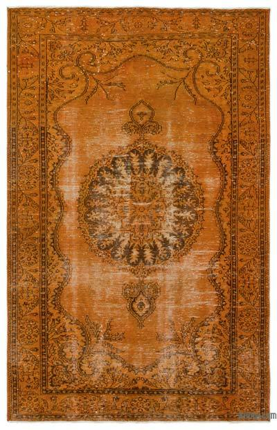 """Over-dyed Turkish Vintage Rug - 6'1"""" x 9'9"""" (73 in. x 117 in.)"""