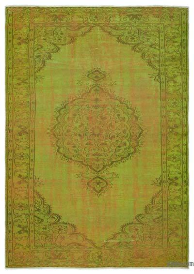 """Over-dyed Turkish Vintage Rug - 6'  x 8' 5"""" (72 in. x 101 in.)"""