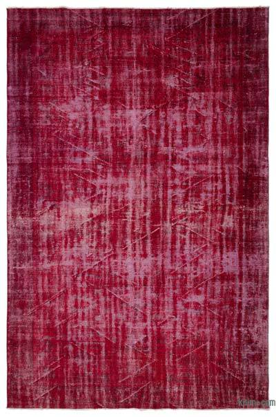 "Over-dyed Turkish Vintage Rug - 6'10"" x 10'6"" (82 in. x 126 in.)"