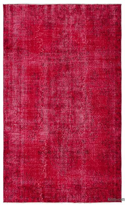 "Over-dyed Turkish Vintage Rug - 5'6"" x 9'3"" (66 in. x 111 in.)"