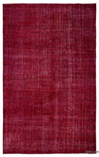 Boyalı El Dokuma Vintage Halı - 206 cm x 328 cm