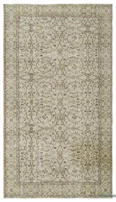 "Over-dyed Turkish Vintage Rug - 5'7"" x 9'9"" (67 in. x 117 in.)"