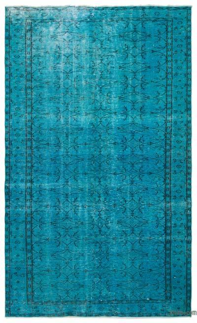 Boyalı El Dokuma Vintage Halı - 177 cm x 289 cm