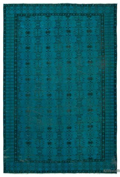 "Over-dyed Turkish Vintage Rug - 6'4"" x 9'5"" (76 in. x 113 in.)"