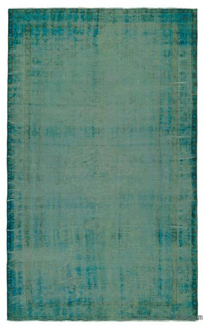 "Over-dyed Turkish Vintage Rug - 5' 4"" x 8' 4"" (64 in. x 100 in.)"