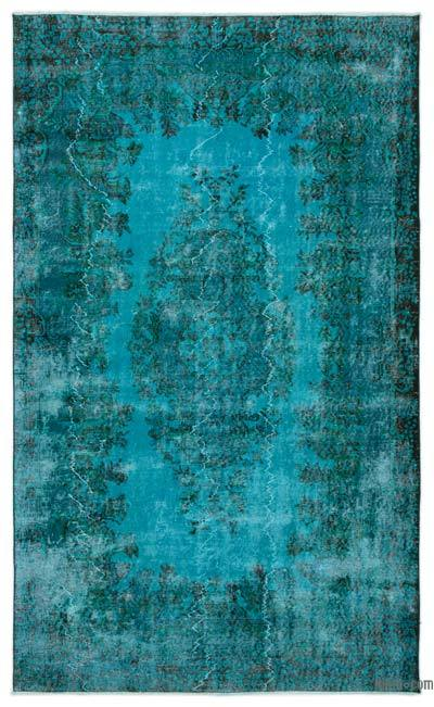"Over-dyed Turkish Vintage Rug - 5'7"" x 9'1"" (67 in. x 109 in.)"