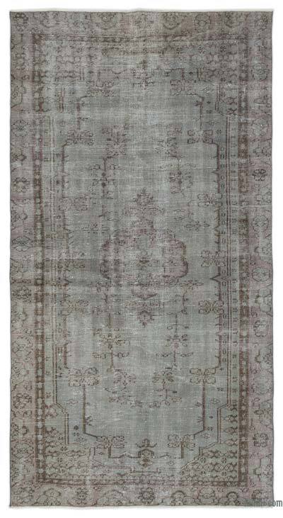 """Over-dyed Turkish Vintage Rug - 4'8"""" x 8'10"""" (56 in. x 106 in.)"""