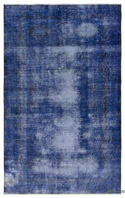 Boyalı El Dokuma Vintage Halı - 165 cm x 262 cm
