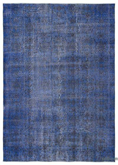 """Over-dyed Turkish Vintage Rug - 6'10"""" x 9'7"""" (82 in. x 115 in.)"""