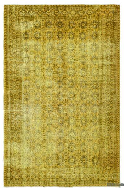 """Over-dyed Turkish Vintage Rug - 6'  x 8' 10"""" (72 in. x 106 in.)"""