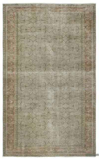 """Over-dyed Turkish Vintage Rug - 5'2"""" x 8'5"""" (62 in. x 101 in.)"""