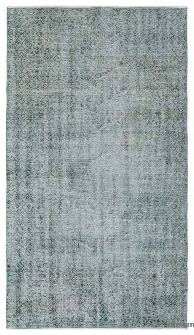 Boyalı El Dokuma Vintage Halı - 147 cm x 262 cm