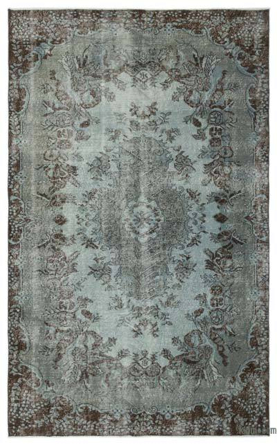 """Over-dyed Turkish Vintage Rug - 5' 8"""" x 9' 1"""" (68 in. x 109 in.)"""