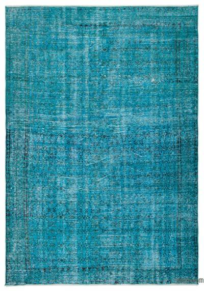 """Over-dyed Turkish Vintage Rug - 6' 7"""" x 9' 5"""" (79 in. x 113 in.)"""