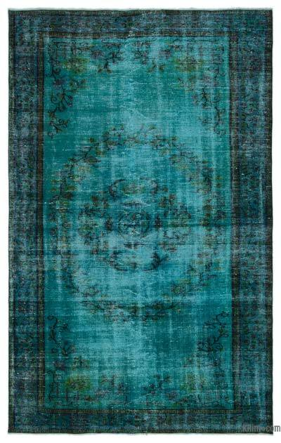 "Over-dyed Turkish Vintage Rug - 5'8"" x 8'8"" (68 in. x 104 in.)"