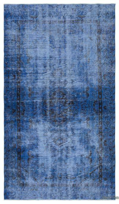 "Over-dyed Turkish Vintage Rug - 5'2"" x 9'1"" (62 in. x 109 in.)"