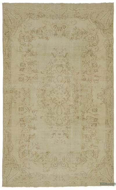 """Over-dyed Turkish Vintage Rug - 5'8"""" x 9'11"""" (68 in. x 119 in.)"""