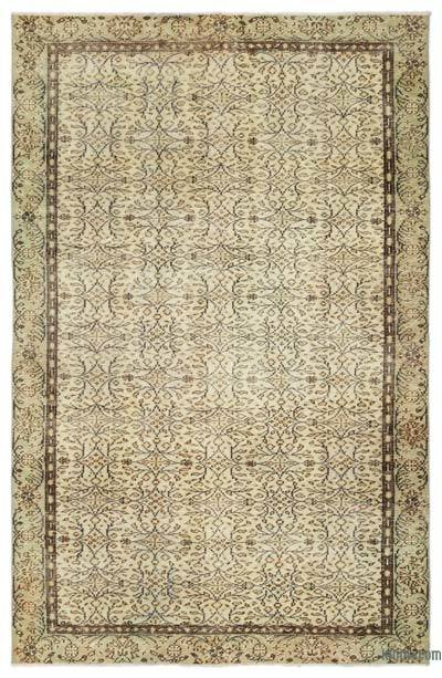 "Over-dyed Turkish Vintage Rug - 6'1"" x 9'7"" (73 in. x 115 in.)"