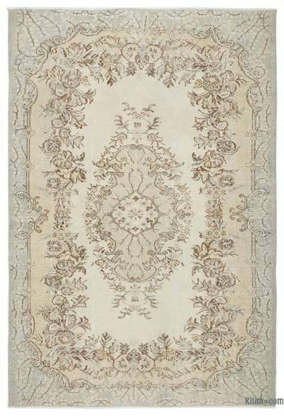 """Over-dyed Turkish Vintage Rug - 5'11"""" x 8'8"""" (71 in. x 104 in.)"""