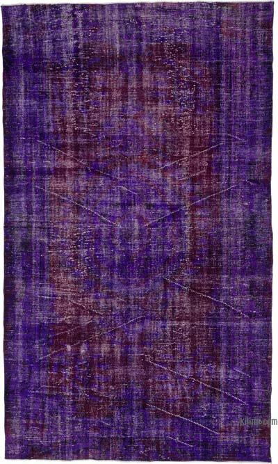 "Over-dyed Turkish Vintage Rug - 5' 3"" x 8' 11"" (63 in. x 107 in.)"