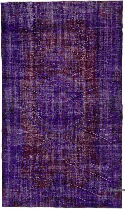 Boyalı El Dokuma Vintage Halı - 160 cm x 273 cm