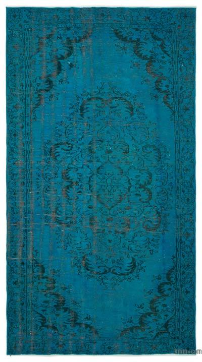 "Over-dyed Turkish Vintage Rug - 5'4"" x 9'9"" (64 in. x 117 in.)"