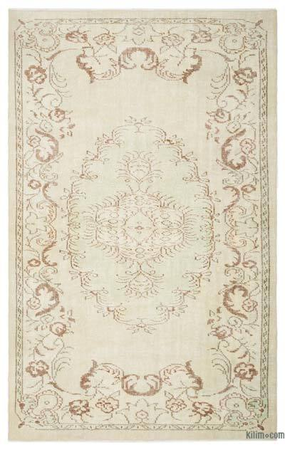 """Over-dyed Turkish Vintage Rug - 5'11"""" x 9'3"""" (71 in. x 111 in.)"""