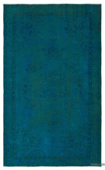 """Over-dyed Turkish Vintage Rug - 5'  x 8' 3"""" (60 in. x 99 in.)"""