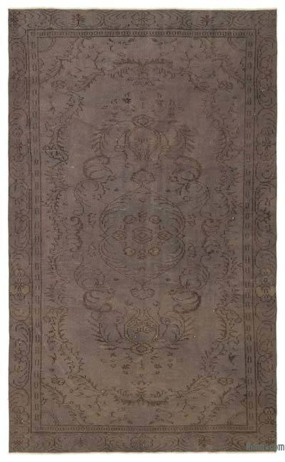 """Over-dyed Turkish Vintage Rug - 5'4"""" x 8'10"""" (64 in. x 106 in.)"""