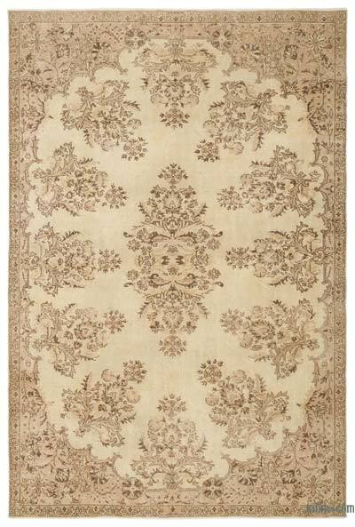 "Over-dyed Turkish Vintage Rug - 6'10"" x 10'2"" (82 in. x 122 in.)"