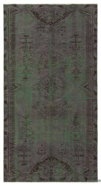 Alfombra Turca Vintage Sobre-teñida - 131 cm x 245 cm