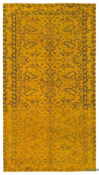 """Over-dyed Turkish Vintage Rug - 5' x 8'9"""" (60 in. x 105 in.)"""