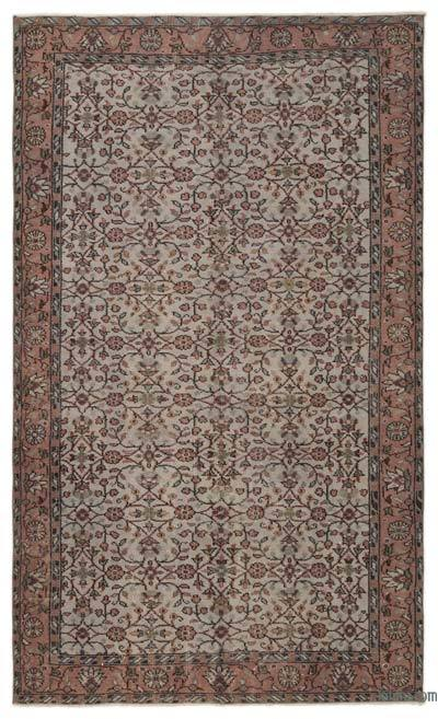 """Turkish Vintage Area Rug - 5' 2"""" x 8' 6"""" (62 in. x 102 in.)"""