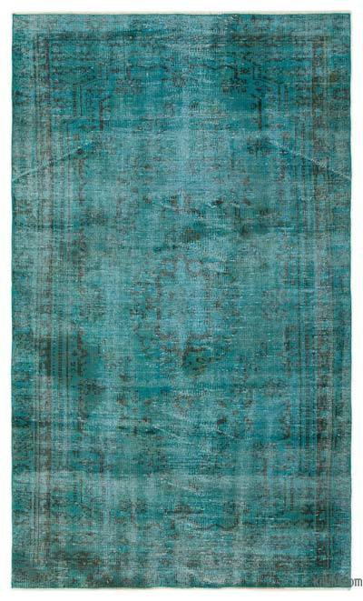 "Over-dyed Turkish Vintage Rug - 4'7"" x 7'7"" (55 in. x 91 in.)"