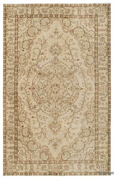 """Over-dyed Turkish Vintage Rug - 5'8"""" x 8'10"""" (68 in. x 106 in.)"""