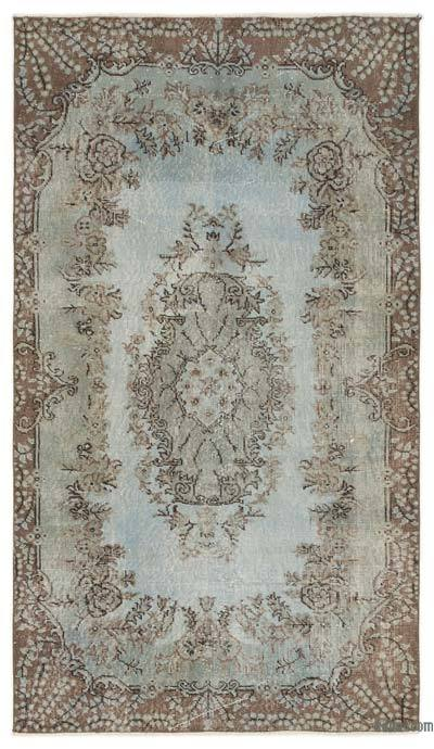 """Over-dyed Turkish Vintage Rug - 4' x 6'11"""" (48 in. x 83 in.)"""