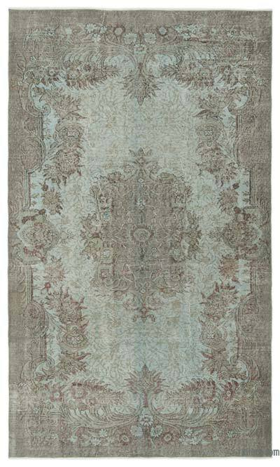 "Over-dyed Turkish Vintage Rug - 5' 7"" x 9' 1"" (67 in. x 109 in.)"