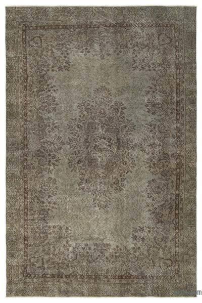 Boyalı El Dokuma Vintage Halı - 187 cm x 295 cm