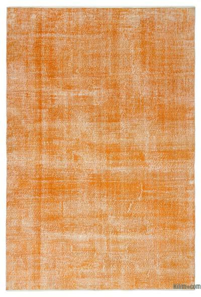 """Over-dyed Turkish Vintage Rug - 6'6"""" x 9'8"""" (78 in. x 116 in.)"""