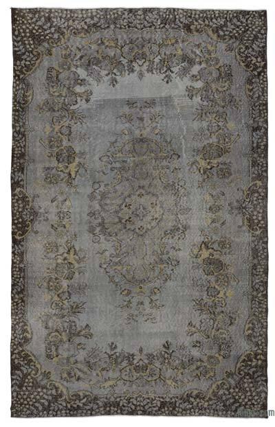 Boyalı El Dokuma Vintage Halı - 174 cm x 280 cm