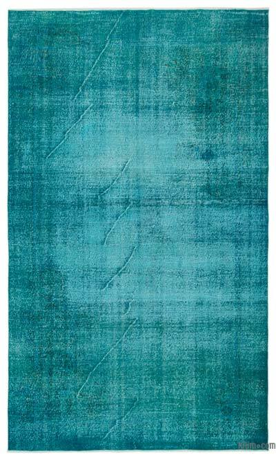 """Over-dyed Turkish Vintage Rug - 6' 5"""" x 10' 10"""" (77 in. x 130 in.)"""