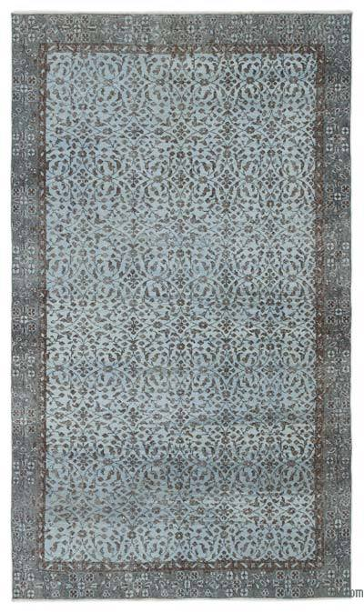 "Over-dyed Turkish Vintage Rug - 5' 6"" x 9' 5"" (66 in. x 113 in.)"