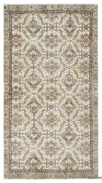 """Over-dyed Turkish Vintage Rug - 4' x 7'5"""" (48 in. x 89 in.)"""