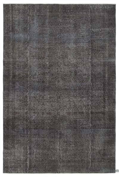 Boyalı El Dokuma Vintage Halı - 191 cm x 288 cm
