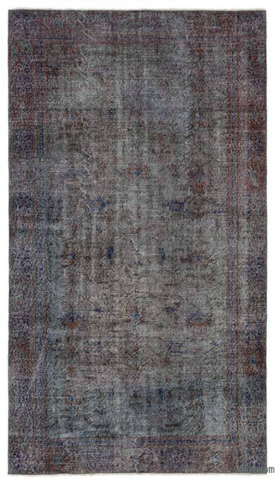 """Over-dyed Turkish Vintage Rug - 5'3"""" x 9'5"""" (63 in. x 113 in.)"""