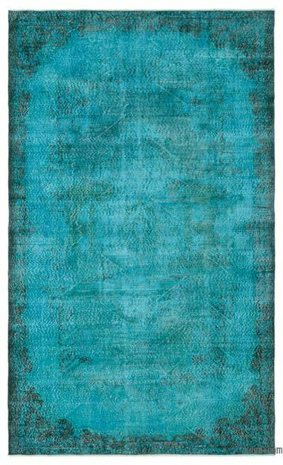 """Over-dyed Turkish Vintage Rug - 6' 1"""" x 9' 10"""" (73 in. x 118 in.)"""