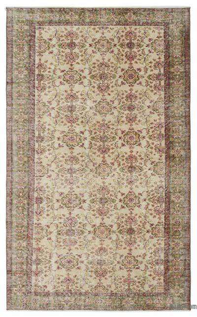"Turkish Vintage Area Rug - 5'9"" x 9'7"" (69 in. x 115 in.)"
