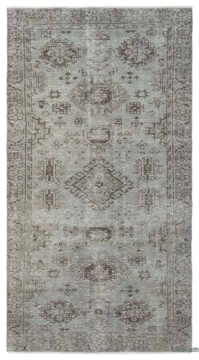 "Over-dyed Turkish Vintage Rug - 4'7"" x 8'9"" (55 in. x 105 in.)"